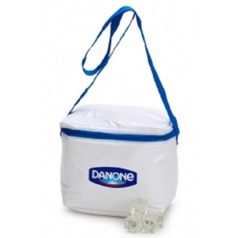 8ac4fa703 Bolsa térmica personalizada em nylon branco. Skill Brindes