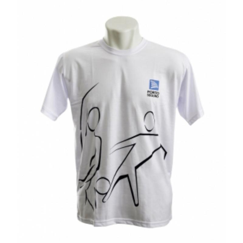 94f611fd27 Camiseta personalizada gola careca Branca. Skill Brindes