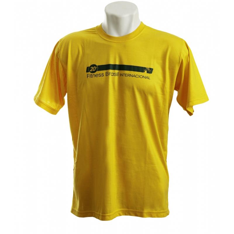 91e0496796 Camiseta personalizada gola careca amarela. Skill Brindes
